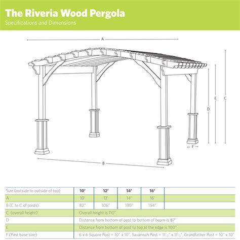 riviera wood pergola ohio hardwood furniture