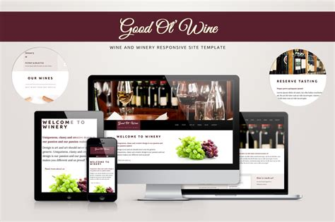 good templates for website good ol wine wine template website templates on