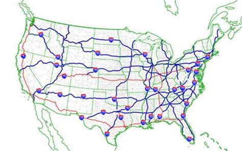 us interstate highway system interactive map u s freeway and highway numbering system maps