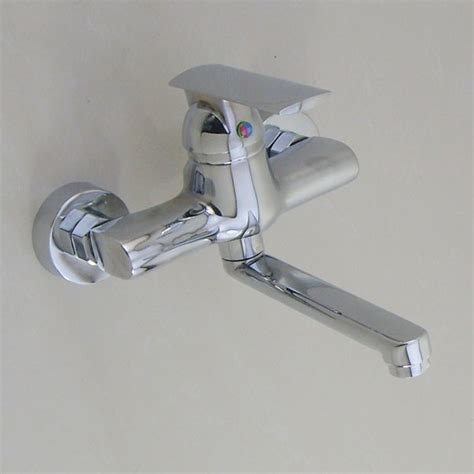 wall kitchen faucets wall mounted chrome kitchen faucet modern kitchen