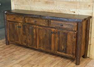 Tuscan Kitchens Designs reclaimed buffet live edge red pine top rustic