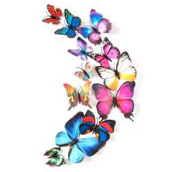 3d Wall Stickers Butterfly 12 Pcs 3d Butterfly Design Decal Art Wall Stickers Room