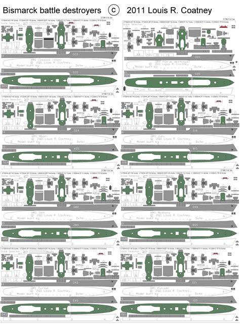 How To Make A Paper Battleship - free cardstock paper model world war 2 ii warships