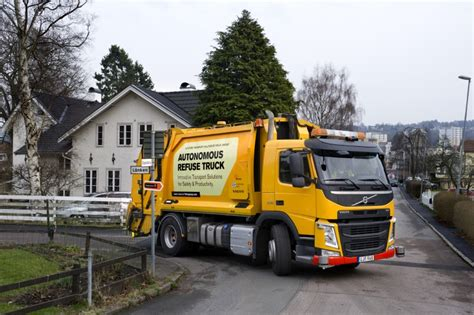 volvo commercial vehicles volvo trucks and renova test autonomous refuse truck