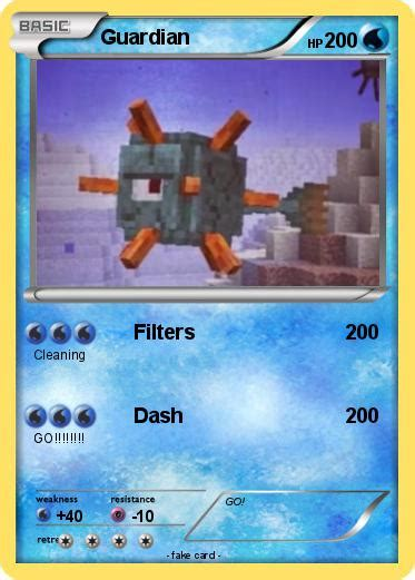 minecraft guardian coloring page pok 233 mon guardian 87 87 filters my pokemon card