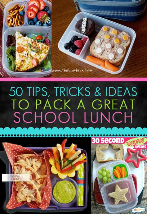 ideas for to make at school 100 lunch box ideas for back to school