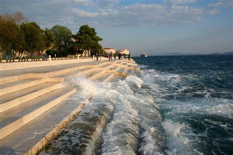zadar dalmatia zadar sea organ and greeting to the