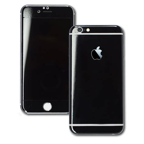 iphone  glossy black skin wrap decal easyskinz