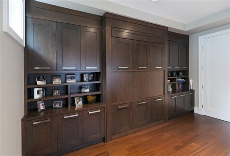 custom bedroom cabinetry murphy bed transitional bedroom vancouver by old