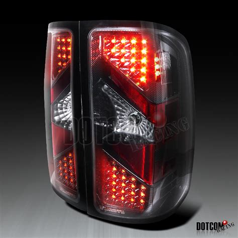 2008 gmc sierra led tail lights 2007 2008 2009 gmc sierra carbon led tail lights brake ebay