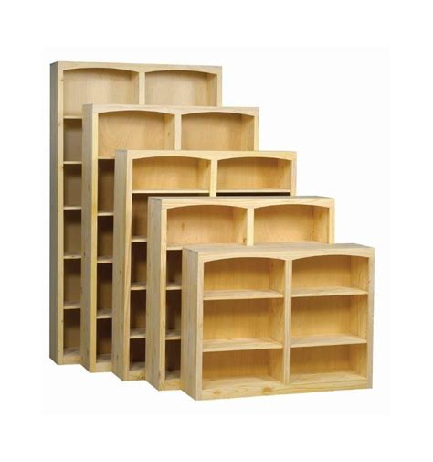 24 Inch Height Bookcase 24 48 Inch Afc Bookcases Wood N Things Furniture