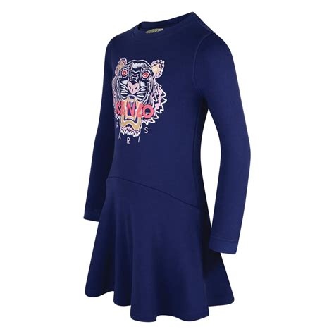 kenzo kids dress with tiger logo chocolate clothing