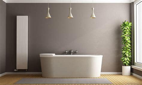badezimmer wandfarbe ein bad in warmen farben kolorat