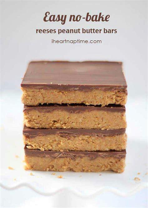 easy no bake peanut butter bars recipes pinterest
