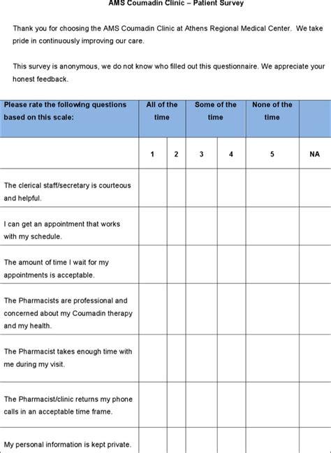 patient satisfaction survey template patient satisfaction survey template free