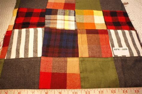 Patchwork Plaid - madras plaid flannel twill madras fabric patchwork