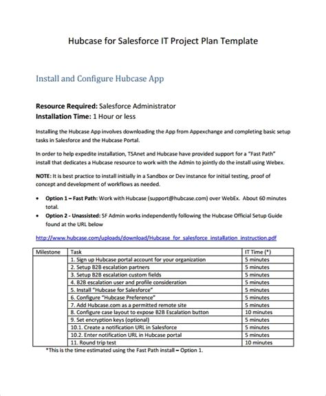 7 It Project Plan Templates Sle Templates Easy Project Plan Template