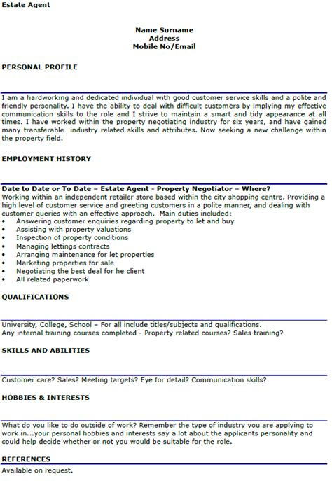 cover letter for lettings negotiator estate cv exle lettercv