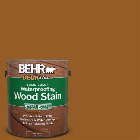 behr solid color waterproofing wood stain behr deckplus 1 gal sc 134 curry solid color