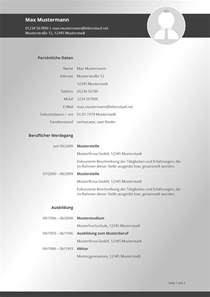 Lebenslauf Muster 2017 Bewerbung 2017 Tabellarischer Lebenslauf