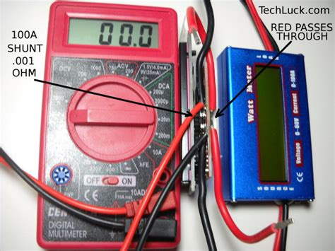 Wattmeter Kwh Meter Dc techluck green energy forum dc watt meter has 100a shunt uses and misc