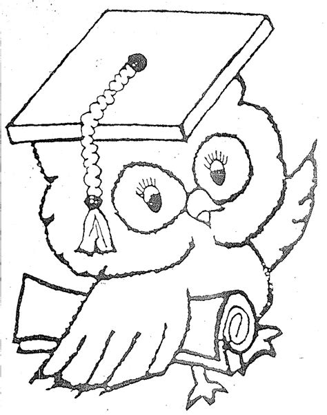 imagenes para colorear buho dibujos de b 250 hos graduados para colorear imagui