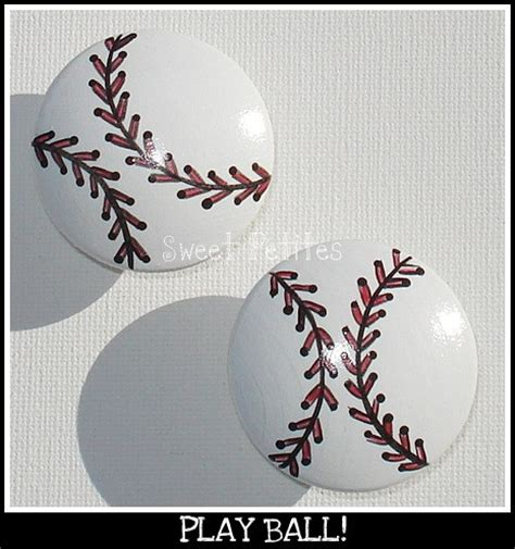 Baseball Dresser Knobs by Painted Knob Dresser Drawer Or Nail Cover Baseball
