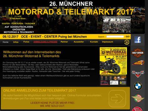 Motorrad Und Teilemarkt m 252 nchner motorrad und teilemarkt 2017