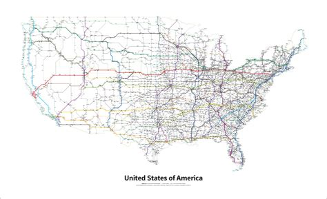 interstate highway map of united states transitmaps new map project highways of the