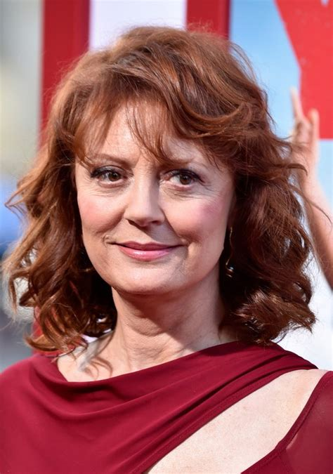 bangs for over 60 woman susan sarandon medium curly hairstyle with bangs for women
