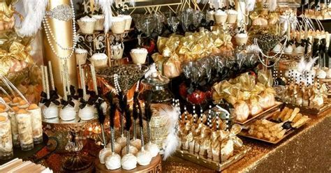 Great Gatsby Candy Buffet   Candy buffet ideas   Pinterest