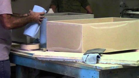 concrete farmhouse sink mold making of concrete farm sinks youtube