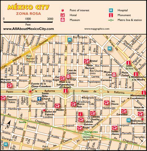 tourist map of mexico city awesome map of mexico city tourist travelquaz