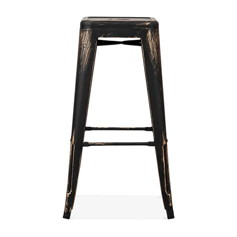 silver metal bar gold or silver brass metal bar stool by cielshop