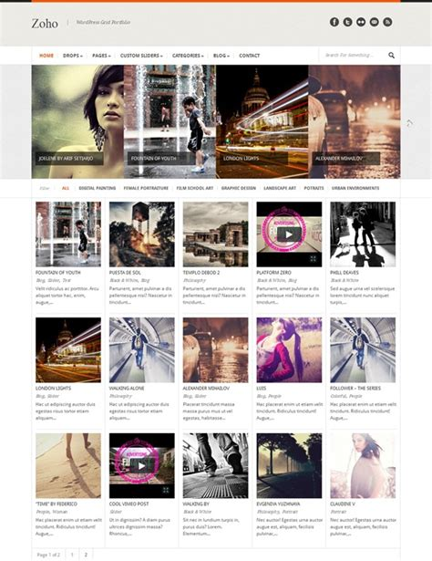 wordpress grid layout free 40 great wordpress themes with grid layouts creative