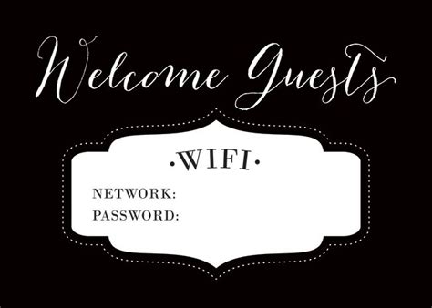 Wifi Password Card Template by 25 Best Ideas About Wifi Password Printable On