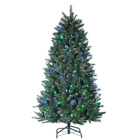 christmas tree light remote 7 santa fe pine pre lit color changing led artificial
