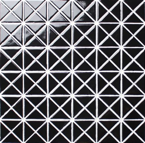 triangle mosaic pattern 1 glossy pure black porcelain triangle wall tile mosaic