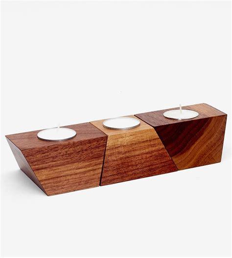 Candle Light Holder by Geometric Wood Tea Light Holder Tea Light Holder Walnut