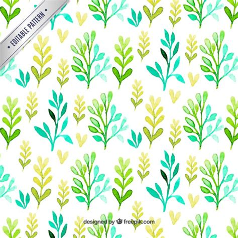 Leaves Pattern Freepik | pattern with watercolor leaves vector free download