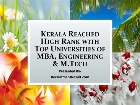 Kerala Mba Rank List by Kerala Reached High Rank With Top Universities Of Mba
