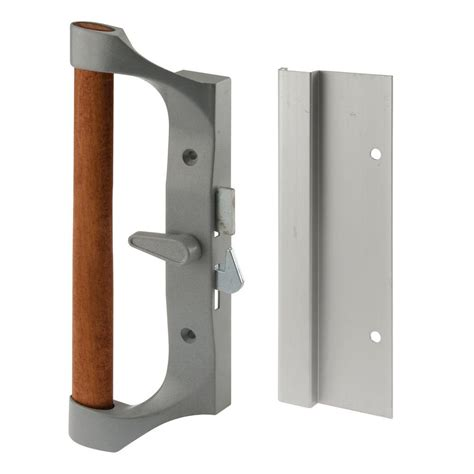 Prime Line Patio Door Handle Prime Line Sliding Door Handle Set Aluminum And Diecast C 1020 The Home Depot