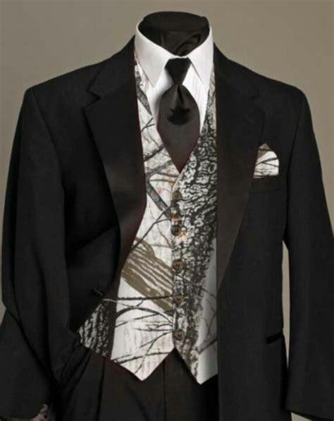 mens camo wedding suits for the groom white camo vest with a black dress shirt