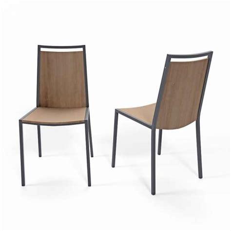 chaise de cuisine en bois chaise de cuisine en m 233 tal et bois concept 4 pieds