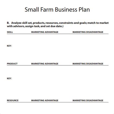 free agriculture business plan template small business plan template 9 free documents