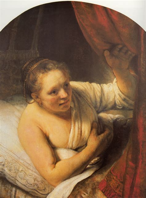 woman on woman in bed woman in bed rembrandt wikiart org encyclopedia of