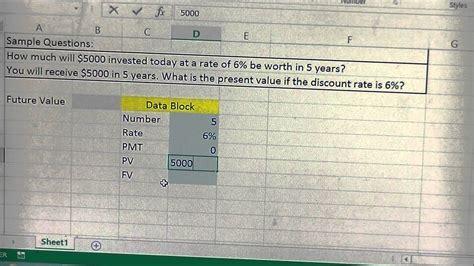 present value and future value calculator template in