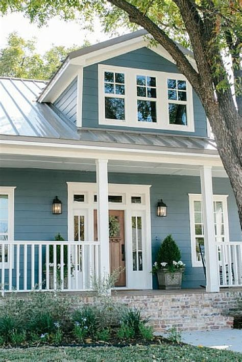 blue house exterior colour schemes new blue siding and front porch home decor pinterest