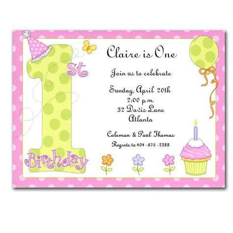 Sle Invitation Letter 1st Birthday 1st Birthday Invitations Clearance Paperstyle