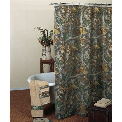 ducks unlimited shower curtain camo bathroom decor realtree timber shower curtain camo
